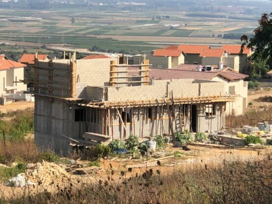 New home under construction in Israel