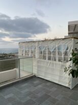 Sukkah balcony in home in Israel